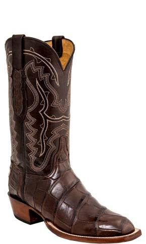 Lucchese L1460 WILDER Chocolate Brown Giant American Alligator Mens Classics Boots
