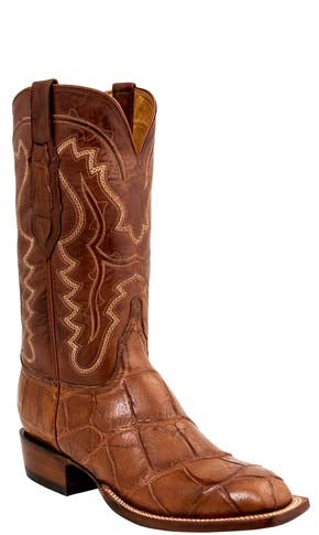 Lucchese L1461 Wilder Mens Cognac Giant American Alligator Cowboy Classics Boots