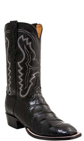 Lucchese Classics L1462 Wilder Mens Chocolate Giant American Alligator Boots