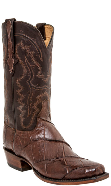 Lucchese Classics L1465 Mens Chocolate Brown Giant American Alligator Cowboy Boots