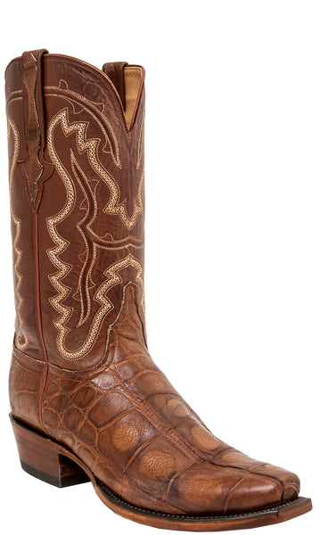 Lucchese Classics L1466 Mens Cognac Giant American Alligator Boots