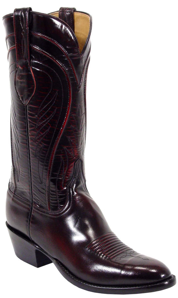 Lucchese L1505 Mens Black Cherry Goat Cowboy Classics Boots