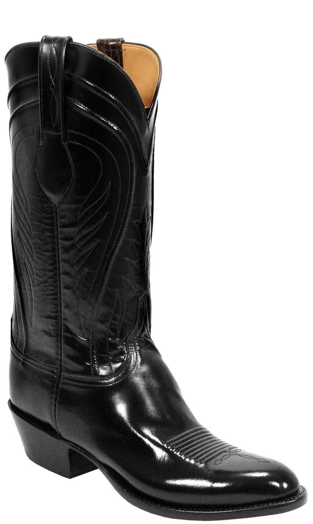 Lucchese Classics L1508.13 Mens Black Goat Boots