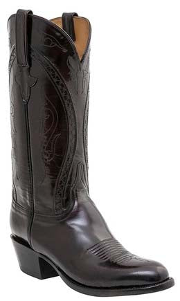 Lucchese Classics L1509 Mens Black Cherry Brush Off Goat Boots