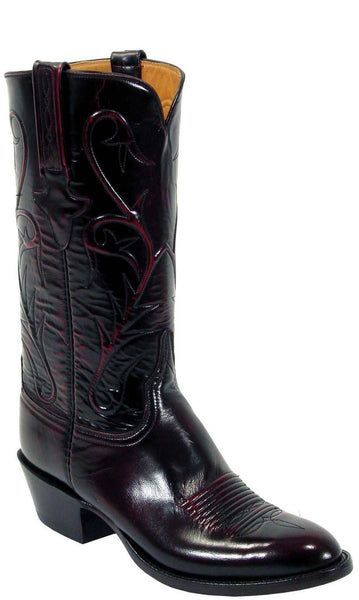 Lucchese L1514.14 Mens Black Cherry Goat Boots