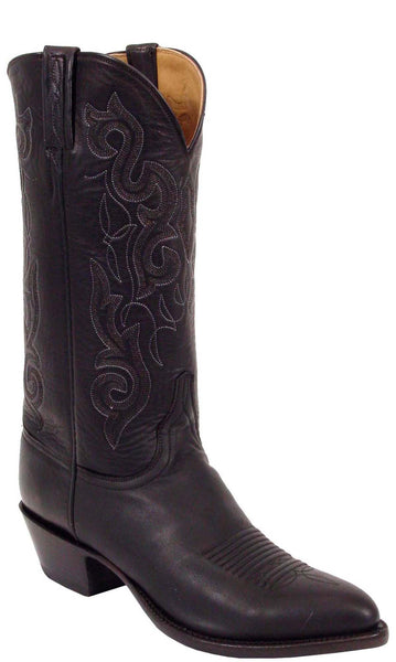 Lucchese Classics L1535 Mens Black Ranch Hand Calfskin Boot