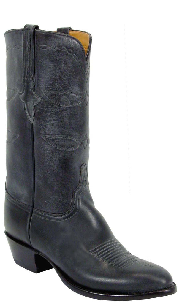 Lucchese Classics L1542 Mens Black Oil Calfskin Boot