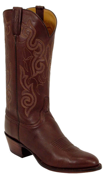 Lucchese Classics L1563 Mens Chocolate Ranch Hand Calfskin Boot