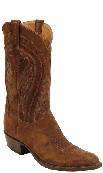 Lucchese Classics L1574 Mens Rust Suede Cowboy Boots