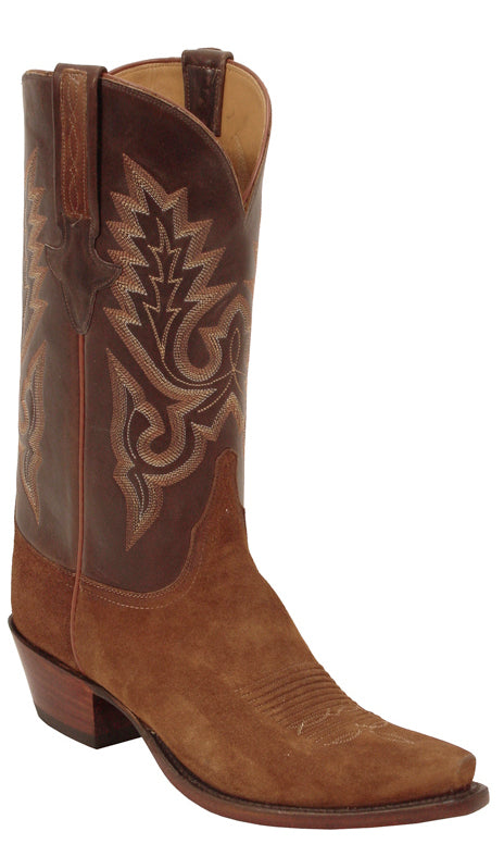 Lucchese Classics L1575 Mens Rust Suede Cowboy Boots