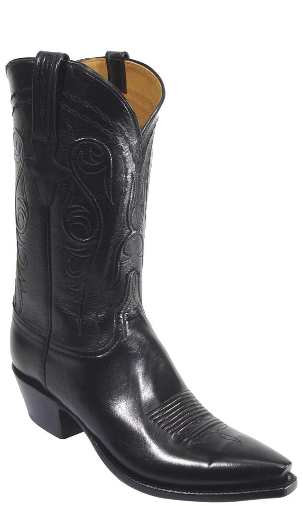 Lucchese Classics L1579 Mens Black Buffalo Leather Boots