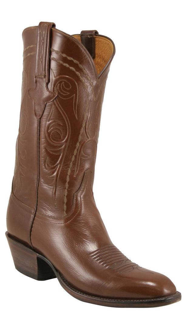 Lucchese L1581 Mens Brown Buffalo Buffalo Cowboy Classics Boots