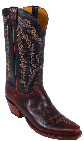 Lucchese L1588 Mens Chocolate Oiled Calfskin Cowboy Classics Boots