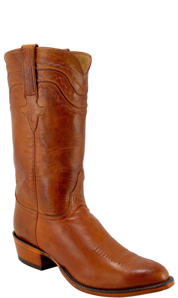 Lucchese Classics L1597 Mens Cognac Burnished Ranch Hand Calfskin Boot
