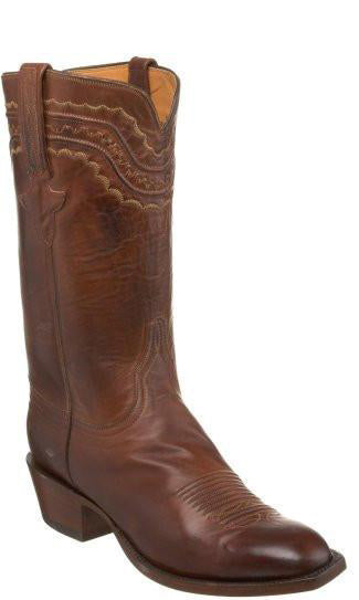 Lucchese L1598.63 Mens Tan Burnished Ranch Hand Calfskin Boots