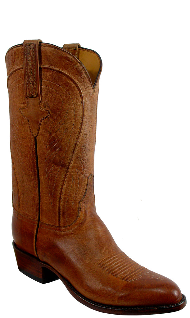 Lucchese Classics L1600 Mens Tan Burnished Mad Dog Goat Boots