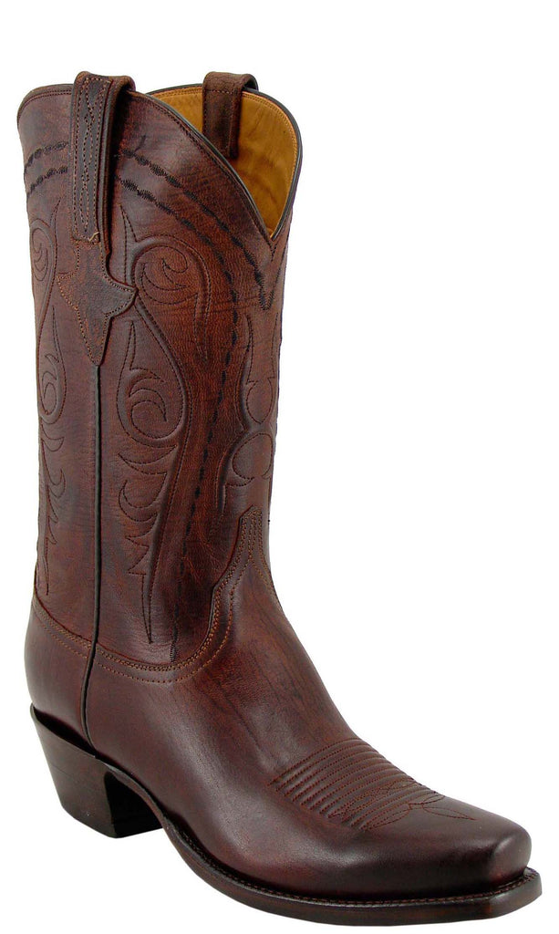 Lucchese Classics L1601.73 Mens Chocolate Burnished Mad Dog Goat Boots