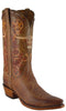 Lucchese Classics L1604 Mens Tan Burnished Mad Dog Goat Rust Barbed Wire Hand Tooled Boot