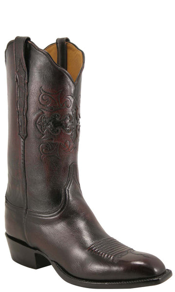 Lucchese Classics L1622 Mens Black Cherry Domingo Goat Cowboy Boot