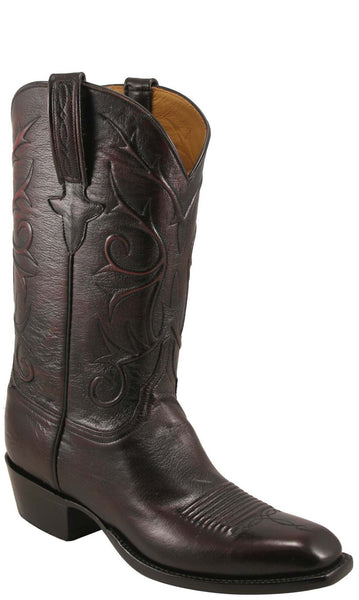 Lucchese Classics L1631 Mens Black Cherry Domingo Goat Boot