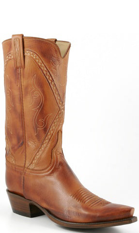 Lucchese Classics L1660.73 Mens Cognac Burnished Baby Buffalo Boot