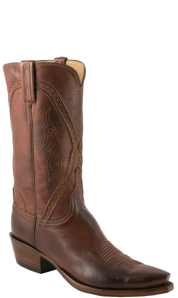 Lucchese L1661 Mens Whiskey Buffalo Calf Cowboy Classics Boots