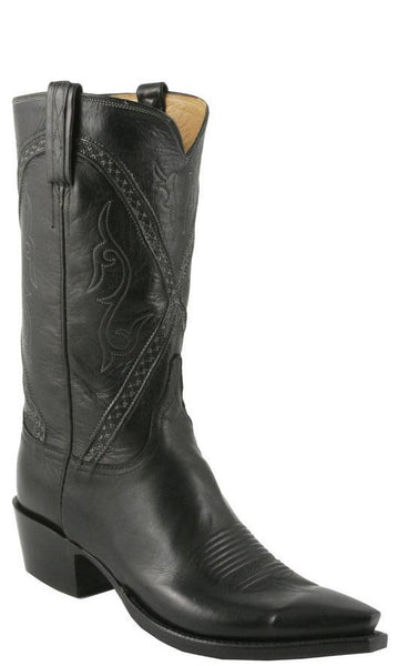 Lucchese L1662.63 Mens Black Baby Buffalo Classics Boots