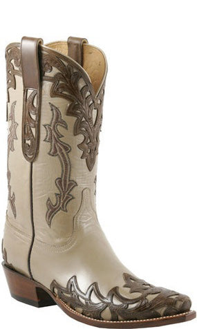 Lucchese L1674 Mens Sable Goat Hand Tooled Cowboy Classics Boots