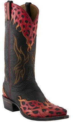 Lucchese Classics L1686 Black Mad Dog Goat Mens Boots