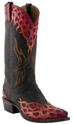 Lucchese Classics L1686.54 Black Mad Dog Goat Mens Boots Size 10 D STALL STOCK
