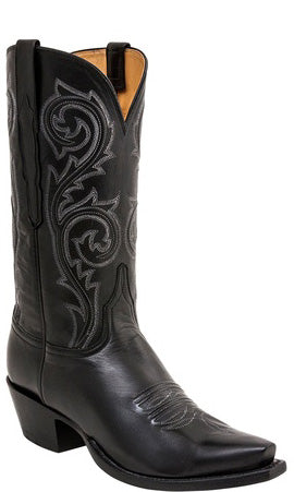 Lucchese Classics MARSHALL L1698 Mens Black Baby Buffalo Boots Size 9 E STALL STOCK