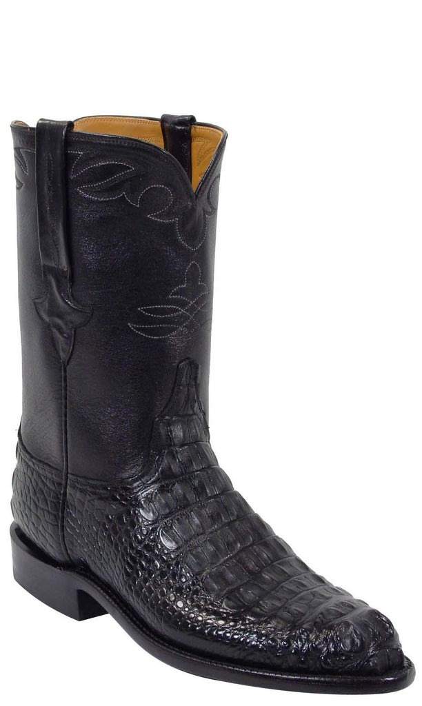 Lucchese Classics L3002 Mens Black Hornback Alligator Roper Boot