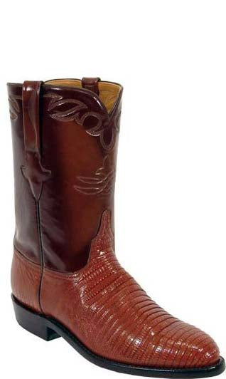 Lucchese L3105 Peanut Brittle Lizard Mens Classics Boots