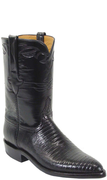 Lucchese Classics L3106 Mens Black Lizard Boot