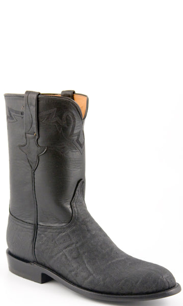Lucchese Classics L3113 Mens Black Elephant Ranch Hand Calfskin Boot