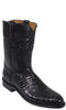 Lucchese Classics L3133 Mens Black Belly Caiman Crocodile Roper Boot