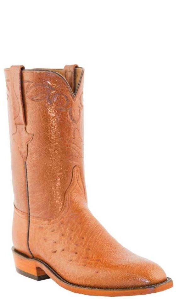 Lucchese Classics L3140 Mens Cognac Smooth Ostrich Roper Boots