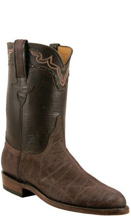 Lucchese Classics L3145 Mens Chocolate Brown Sueded Elephant Boots
