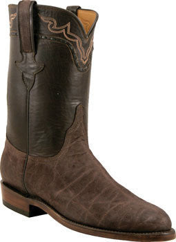 Lucchese Classics L3145.R9 Mens Chocolate Brown Sueded Elephant Boots Size 10.5 D STALL STOCK