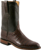 Lucchese Classics L3151 Mens Sienna Brown Ultra Belly Crocodile Roper Boots