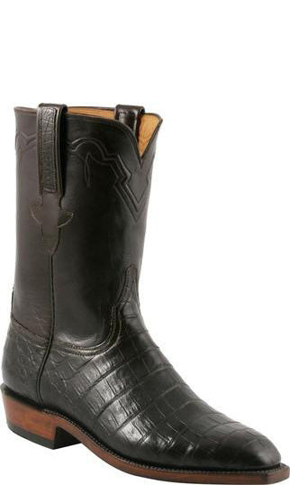 Lucchese Classics L3153.1R Mens Ultra Belly Crocodile Roper Boots Size 9 B STALL STOCK