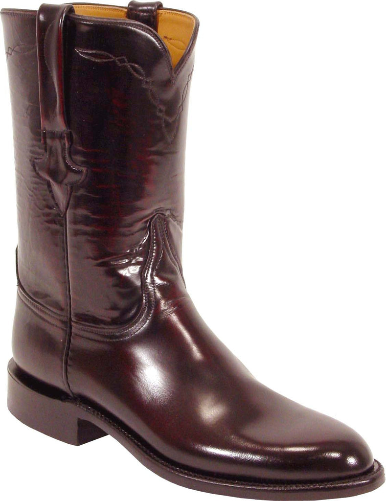 Lucchese Classics L3505.19 Mens Black Cherry Goat Boots