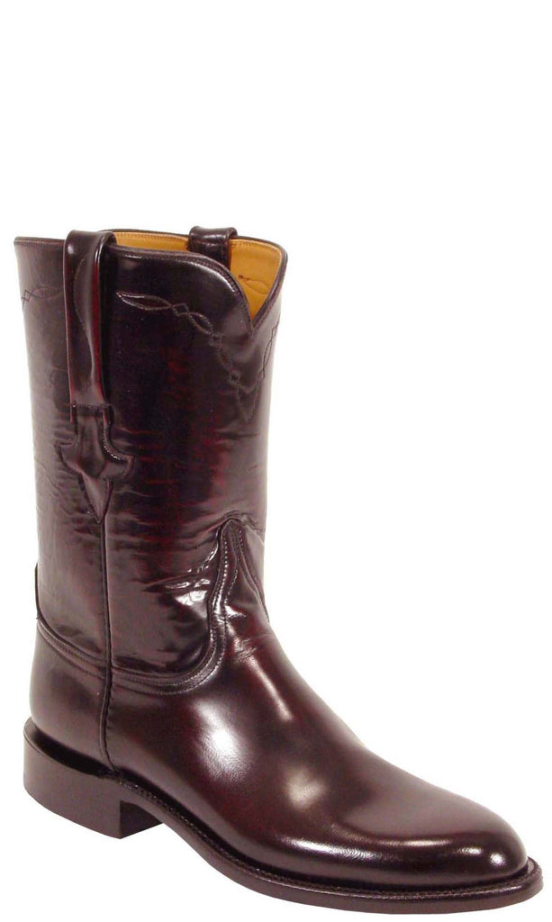 Lucchese Classics L3505 Mens Black Cherry Goat Roper Boots