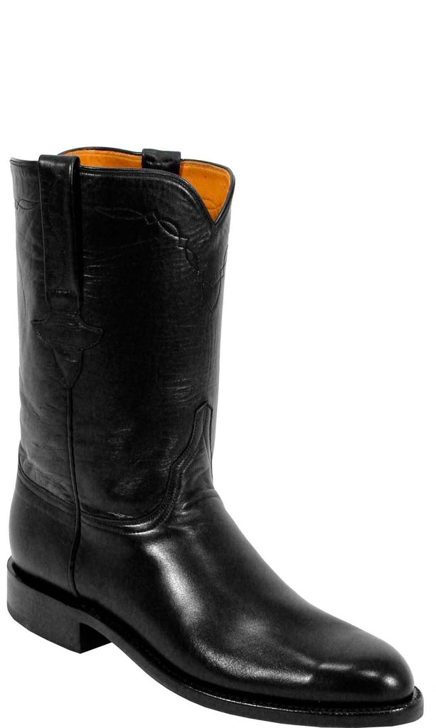 Lucchese L3509 Mens Black Calfskin Classics Boots
