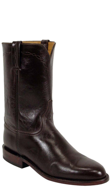 Lucchese Classics L3511 Mens Chocolate Calfskin Roper Boots