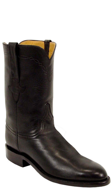 Lucchese Classics L3515 Black Ranch Hand Calfskin Mens Boots