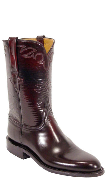 Lucchese Classics L3521 Mens Black Cherry Goat Roper Boots