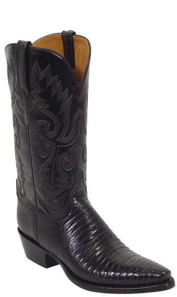 Lucchese L4033 Womens Black Lizard Cowboy Boots