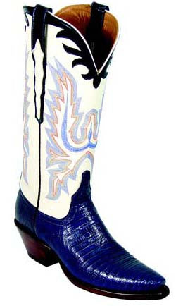 Lucchese Classics L4073 Navy Lizard Womens Boots
