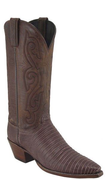Lucchese Classics L4114 Womens Sport Rust Sanded Lizard Mad Dog Boot